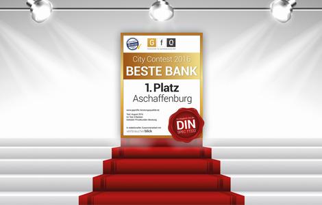 sieg im city contest 2016 beste bank in aschaffenburg die sparkasse bietet die beste beratung. Black Bedroom Furniture Sets. Home Design Ideas
