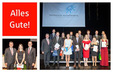441 Bachelor- und Master-Studenten wurden bei der Akademischen Feier der Hochschule Aschaffenburg verabschiedet