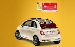 Mit Karte zahlen und ein Fiat 500 Cabrio gewinnen.