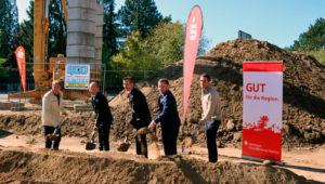 Spatenstich für die neue Sparkassen-Filiale in Karlstein