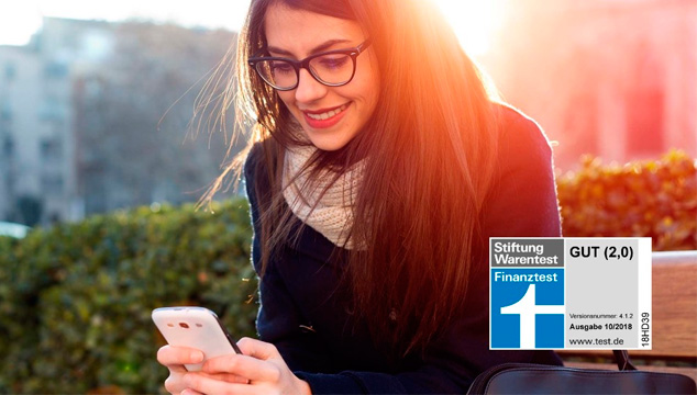 Die Sparkassen-App ist doppelter Testsieger bei Stiftung Warentest!
