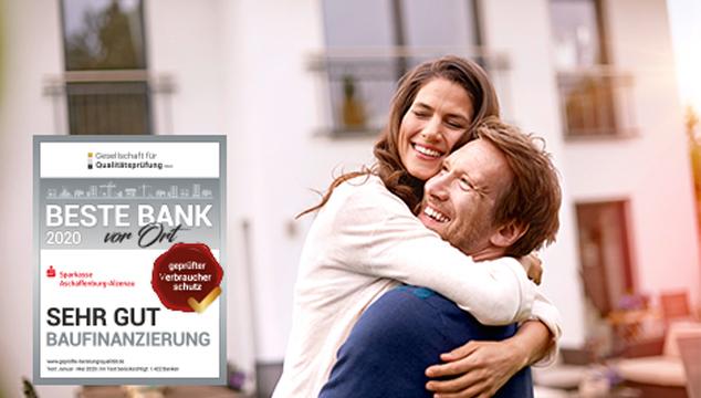Sehr gute Baufinanzierungsberatung bei der Sparkasse Aschaffenburg-Alzenau