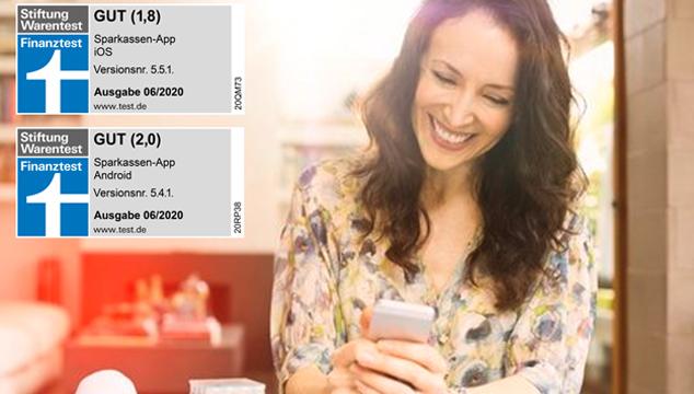Sparkassen-App erneut mit Top- Bewertung