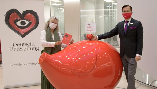 Sparkasse unterstützt die Deutsche Herzstiftung e.V.